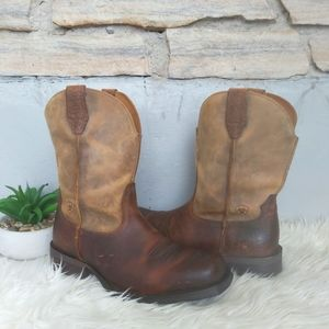 ARIAT Mens Rambler Square Toe Western Cowboy Leather Boots Nearly New